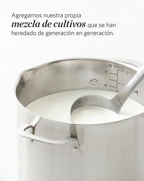 Milk in pot